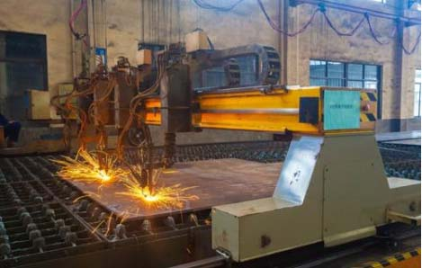 Steel plate cutting series - flame cutting